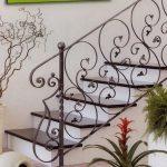 ładny wzór balustrady schodów