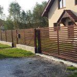 minimalistyczne ogrodzenie