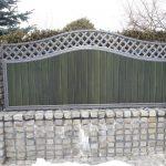 ogrodzenie panelowe na murze