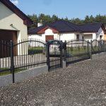 ogrodzenie metalowe malowane proszkowo