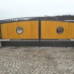 brama panelowa dwuskrzydłowa